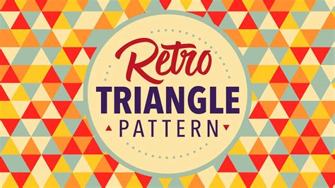 Retro Triangle Pattern Adobe Illustrator Tutorial   YouTube