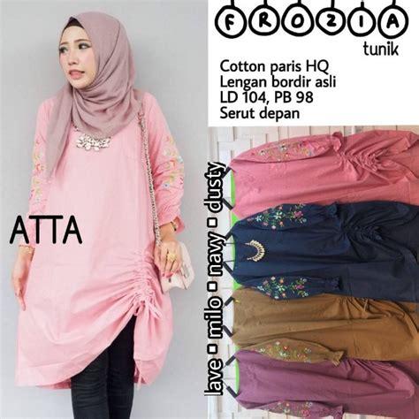Baju Wanita Tunik Eloise Muslim Unik Modern Modis Lucu Cantii Trendi baju wanita blouse tunik frozia muslim remaja trendi unik modern modis olshop fashion olshop
