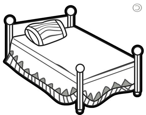 black and white bed bed clip black and white of a black clipart