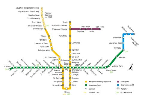 canada skytrain map