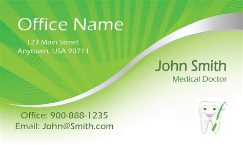 doctor visiting card design templates green dental and business card design 301371