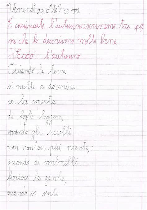 testo poetico scuola primaria classe quinta poesie sull autunno