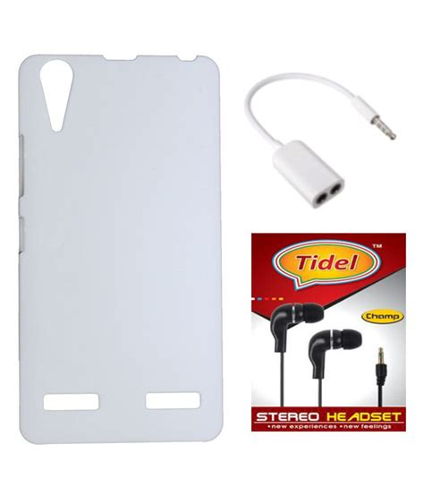 Flip Shell Lenovo A6000 tidel white back cover for lenovo a6000 plus with 3 5mm