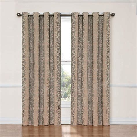 curtains 95 length eclipse nadya blackout linen polyester curtain panel 95