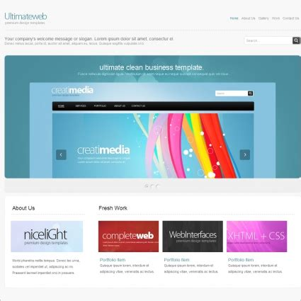 ultimate template ultimate web template free website templates in css html