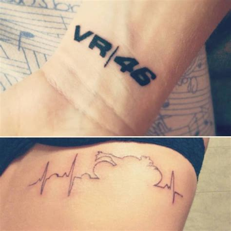 tatouage de couple moto