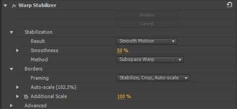 adobe premiere cs6 warp stabilizer the best warp stabilizer settings for adobe premiere and