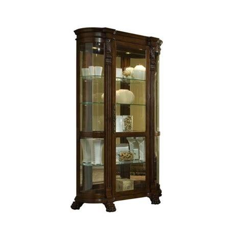 Pulaski Curved Glass Curio Cabinet by Pulaski Foxcroft Curved End Curio Cabinet 102003
