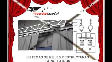 sistemas para cortinas sistemas de rieles y telones para teatros