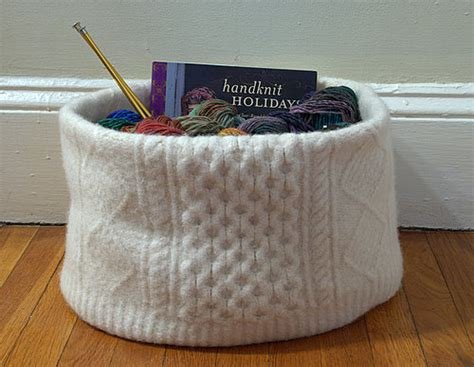 knitting basket felted sweater knitting basket flickr photo
