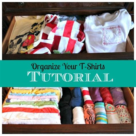 organize your t shirts tutorial