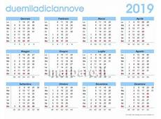 2018 2019 Calendar with Large Print