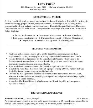 resume for banking professionals 28 images banking