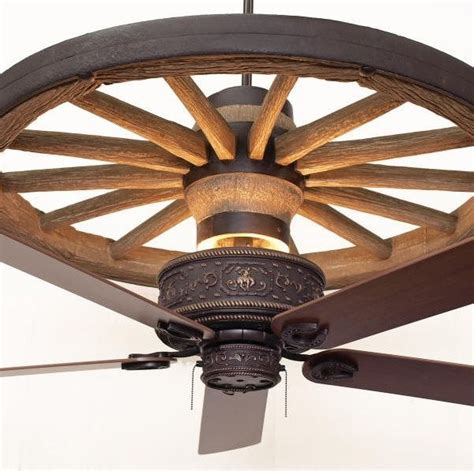 wagon wheel ceiling ceiling fans rustic lighting fans