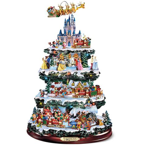 the disney christmas carousel tree hammacher schlemmer
