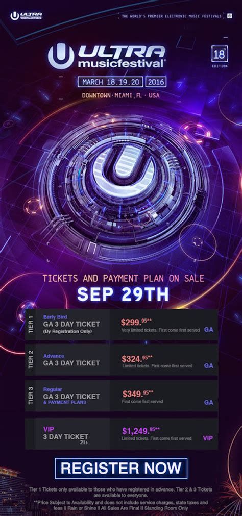 Ultra Music Festival Ticket Giveaway - ultra music festival miami announces ticketing information for 2016 by the wavs
