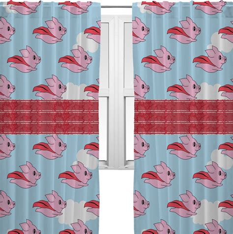 pig kitchen curtains flying pigs curtains 20 quot x63 quot panels lined 2 panels