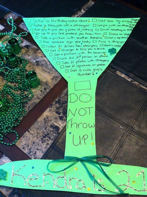 21st birthday themes list 21st birthday dare list crafty stuff pinterest