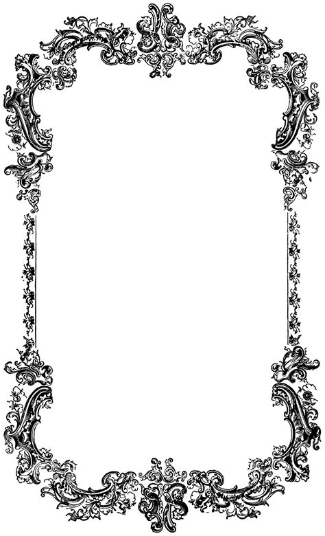 Decorative Borders by Decorative Vintage Border Clip Image Oh So Nifty