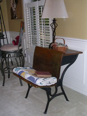 Ideas For School Desks by This Is An School Desk Purchased At A Garage Sale It