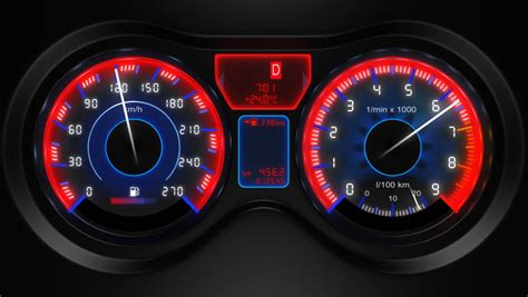 how cars run 1997 lexus lx instrument cluster car panel instrument speedometer and tachometer hd loop 30fps 3d 1080p stock footage video