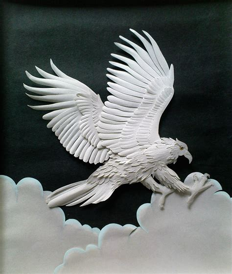 How To Make A Eagle Out Of Paper - eagle on behance