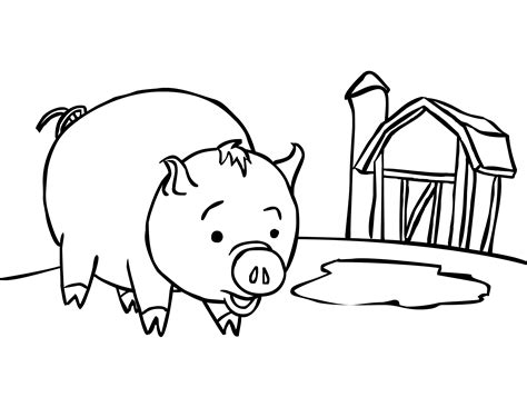 pig coloring page preschool pig coloring pages preschool animal coloring pages of