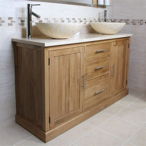 50 oak vanity unit with marble top finesse