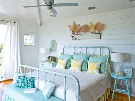 Aqua Themed Bedroom by Coastal Theme Cottage Bedroom Aqua Blue Shades