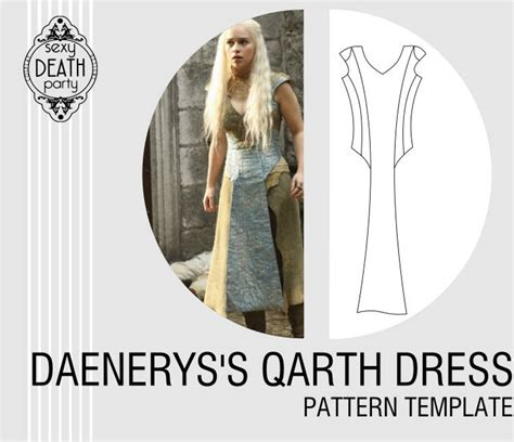 pattern for qarth dress daenerys targaryen qarth dress pattern pdf download from