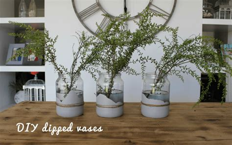 diy chalk paint vases diy dipped vases with chalk paint by sloan