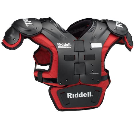 Sho N Shoulders the gallery for gt riddell power shoulder pads with backplate