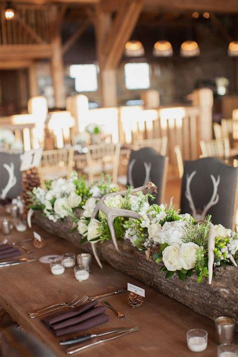 Wedding Log by Hollowed Log Centerpiece