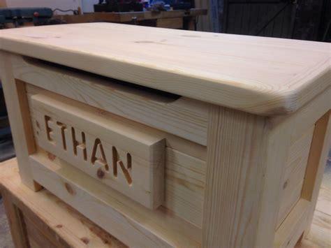handmade solid wooden pine toy box ottoman adam kelly
