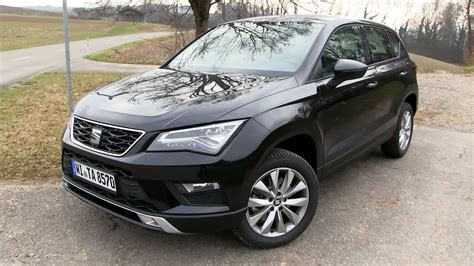 seat ateca black 2016 seat ateca 1 4 ecotsi 150 hp test drive youtube