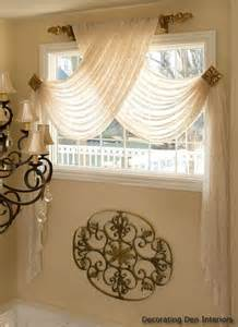 Curtains Above Window Decorating Sheer Swag Panels But Look At The Scroll Design Bet You Could Duplicate With To Rolls