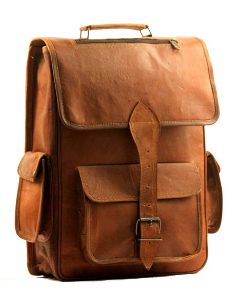 Handmade Leather Briefcase Uk - handmade vintage leather macbook briefcase messenger bag