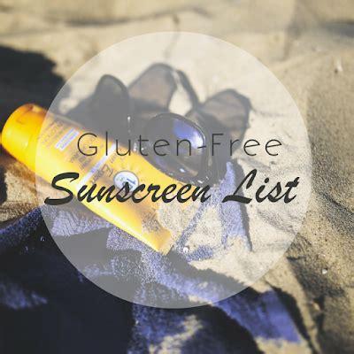 is banana boat gluten free the gluten free sunscreen list gluten free doll