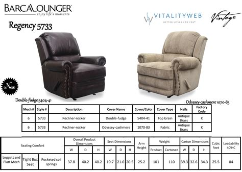 reclining chair dimensions barcalounger regency ii genuine leather recliner lounger