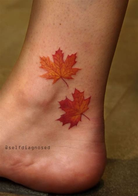 leaves tattoo designs 25 best ideas about maple leaf tattoos on
