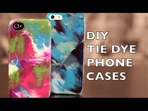 diy how to decorate your phone tie dye with nail