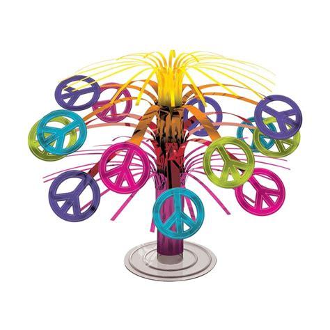 60s theme decorations feeling groovy hippie 60s peace mini cascade table