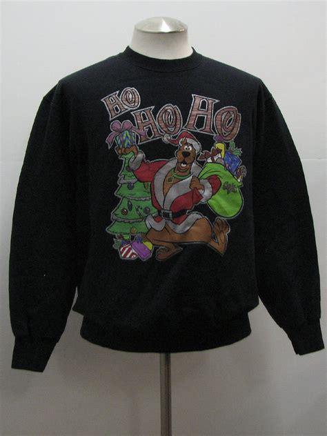 Scooby Do Sweater Sweatshirt Scooby Doo Unisex Black