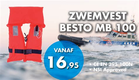 reddingsvest of zwemvest verplicht zwemvest besto mb 100 adult debo watersport debo