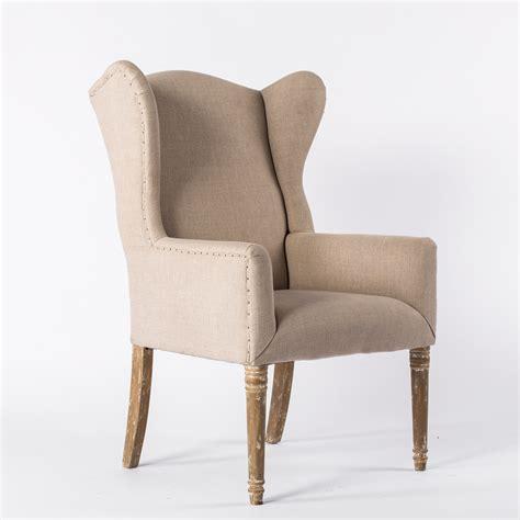 Classic Chair james linen wingback bella acento