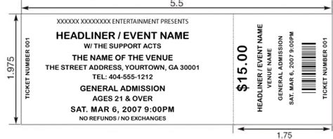 blank printable event tickets 8 best images of printable concert ticket stubs free