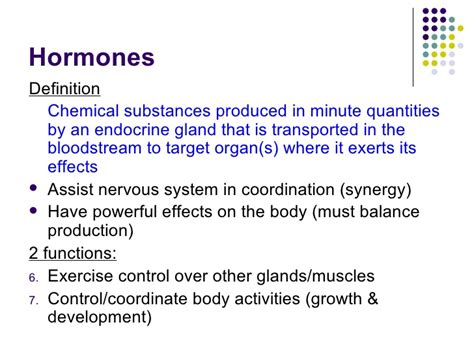chapter 15 hormones lesson 1 endocrine glands and the effects of in