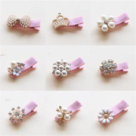 hair accessories children baby beautiful pink 1pcs children hair crown pearls baby hairpins hair