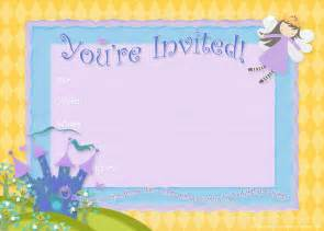 This free horizontal 5x7 fairy princess birthday party invite is for