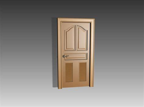 door wood insert panel wood panel door with shutter inserts 3d model 3dsmax 3ds